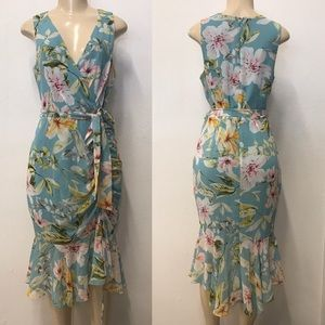 Eliza J Floral print ruffle dress